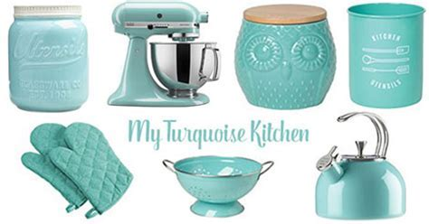 YankeeDesi.com   Turquoise Kitchen Accessories
