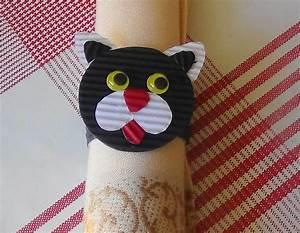 Rond De Serviette à Faire Soi Même : tuto activit pour enfant rond de serviette chat deco ~ Nature-et-papiers.com Idées de Décoration