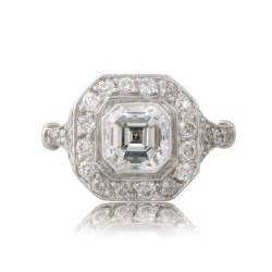 asscher cut engagement ring vintage asscher cut engagement ring estate jewelry