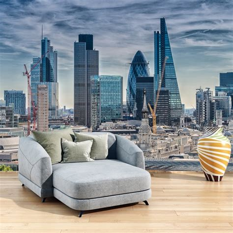 financial district london cityscape wall mural wallpaper