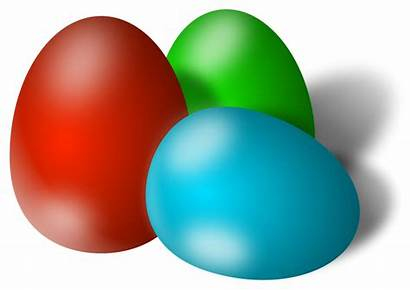 Easter Eggs Egg Colored Clipart Three Illustration