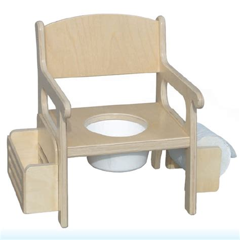 The Potty Chair by Wooden Potty Chair W Accessories Stain Potty