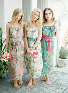 beach wedding dresses for bridesmaids With print bridesmaid dresses for beach wedding