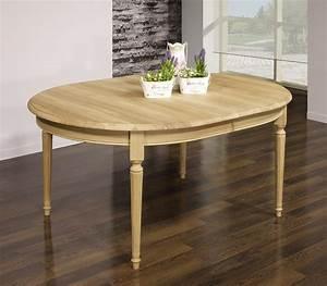 Table Bois Naturel : table ovale 160x120 lambert en ch ne massif de style louis ~ Teatrodelosmanantiales.com Idées de Décoration
