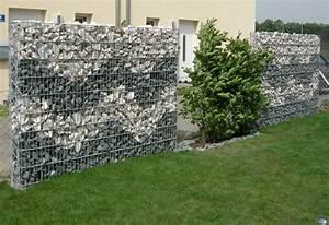 Mur De Cloture En Gabion : gabion cloture jardin les derni res id es ~ Edinachiropracticcenter.com Idées de Décoration