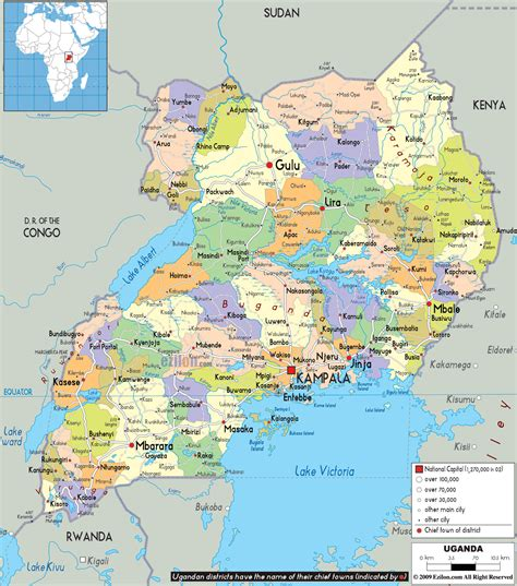 maps  uganda map library maps   world