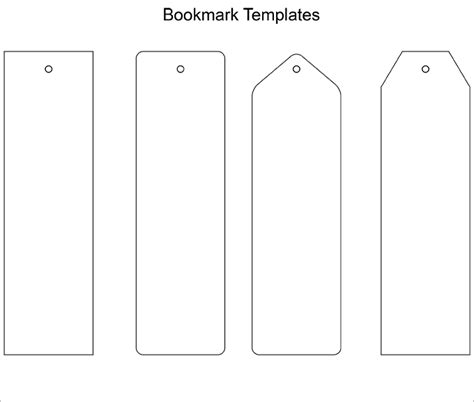 Bookmark Template Blank Bookmark Template Bookmark Template Pinteres