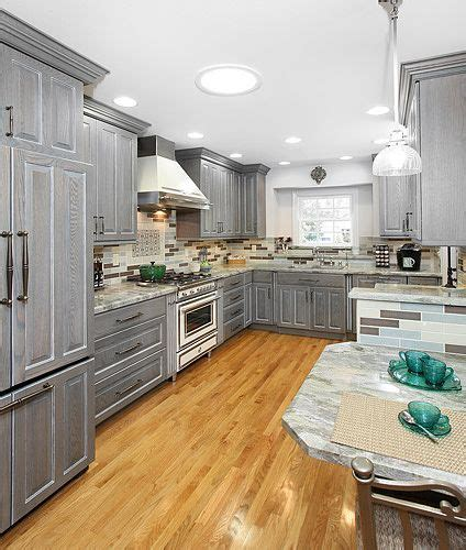 gray stained kitchen cabinets gray stained cabinets home design ideas pictures remodel