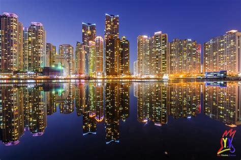 incredible skyscraper reflections  busans city