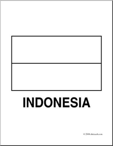 clip art flags indonesia coloring page abcteach