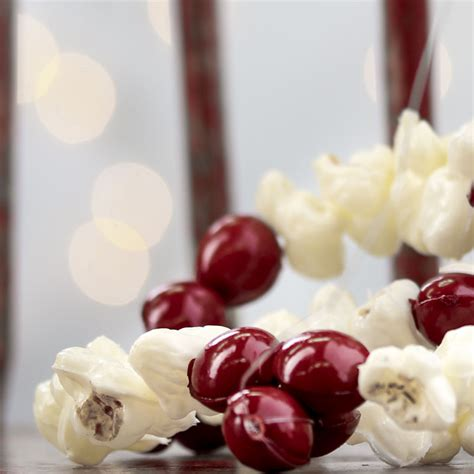 cranberry garland artificial popcorn and cranberry garland christmas garlands christmas and winter holiday