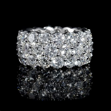 ct diamond  row  white gold eternity wedding