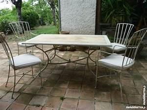 Table Fer Forgé Occasion : table fer forge chaises d 39 occasion 90 vendre pas cher ~ Teatrodelosmanantiales.com Idées de Décoration
