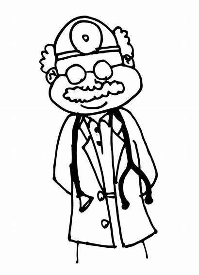 Doctor Drawing Doctors Clipart Coloring Office Pages