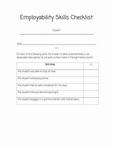 Job Skill Worksheets Sped Head Employability Skills Checklist Behavior