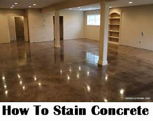 How to stain concrete diy home improvement make your for How to make your floor shiny