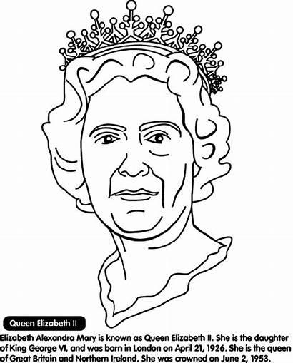 Queen Elizabeth Ii Coloring Pages Crayola