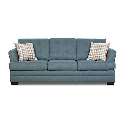 simmons velocity denim sofa with fairhope cornflower