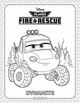 Dynamite Coloring Rescue Fire Planes sketch template