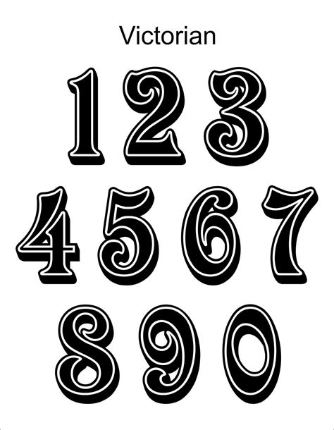 tattoo number fonts on Pinterest