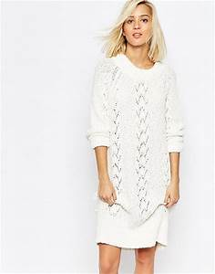 beautiful hollow out sweater dress knitting dress white dress With robe blanche hiver