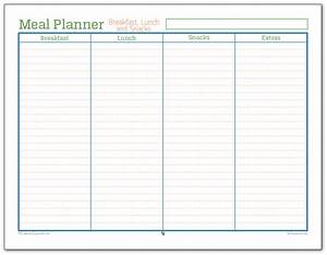 Meal planner breakfast lunch and snacks scattered squirrel for Lunch roster template