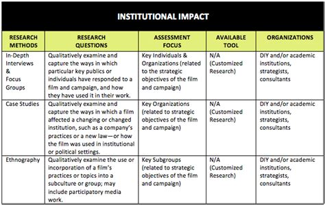 assessing  social impact  issues focused documentaries research methods future