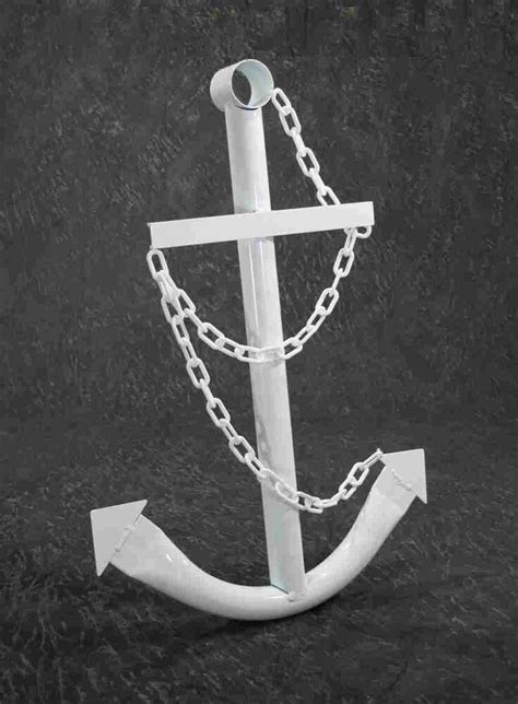 Decorative Anchors by Nautical White Navy Anchor Metal Decorative Wall Yard