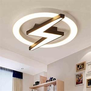 24 Flush Mount Light Modern Style Dimmable Led Lightning Shield Flush Mount