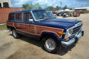 jeep navy blue 1986 86 jeep grand wagoneer navy blue woody factory