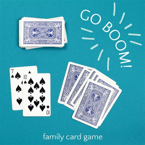 """Be the one with the most money at the end of the game to win. Go Boom, A Family """"Trick-Taking"""" Card Game"""