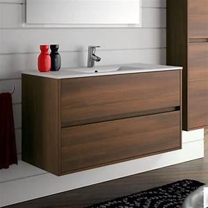 meuble salle de bain 100 cm 2 tiroirsvasque porcelaine With meuble salle de bain 2 vasques 100 cm