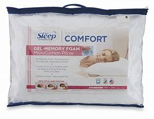 Sleep innovations touch of comfort gel memory foam for Comfort pillows for sleep
