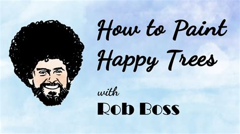 How To Paint Happy Trees