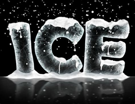 create  ice text effect  photoshop