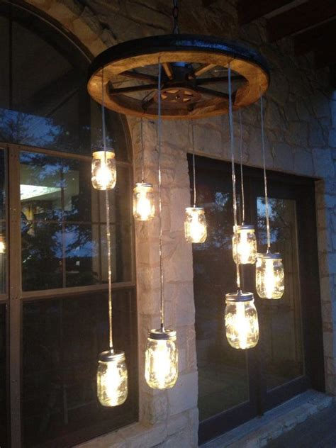 spiral wagon wheel jar chandelier small