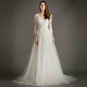 Online get cheap simple long sleeve wedding dresses for Simple long wedding dresses