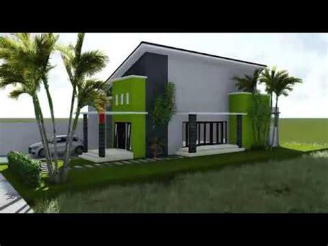 desain rumah  lantai atap miring  youtube