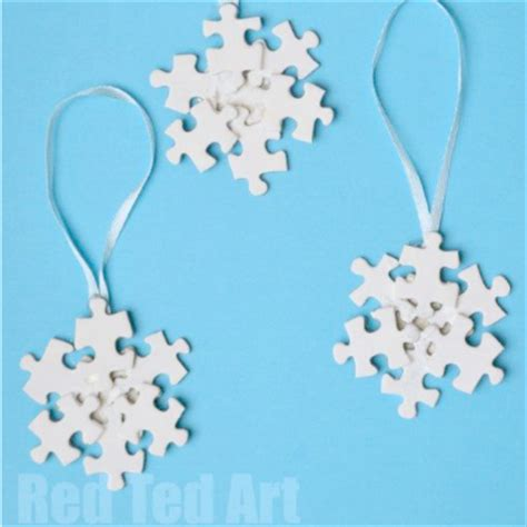 snowflake crafts 20 snowflake craft ideas red ted art s blog