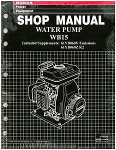 Honda Wb15 Water Pump Shop Manual
