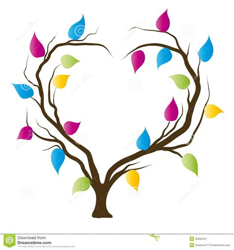 heart tree royalty  stock photography image