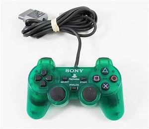 PS1 Original Dual Shock CLEAR GREEN Controller