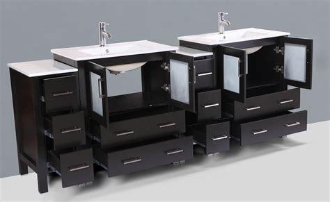 double sink mirrored bathroom vanity contemporary 84 inch espresso finish double sink bathroom