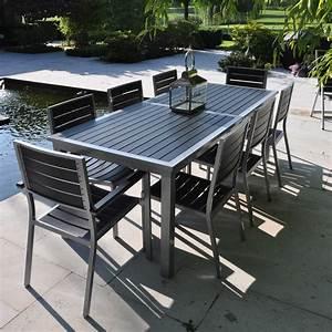 Table De Jardin Aluminium Et Verre : ensemble table et chaise de jardin aluminium menuiserie ~ Teatrodelosmanantiales.com Idées de Décoration