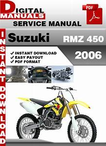 Suzuki Rmz 450 2006 Factory Service Repair Manual Pdf