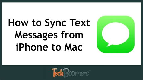 how to sync iphone to mac how to sync messages from iphone to mac