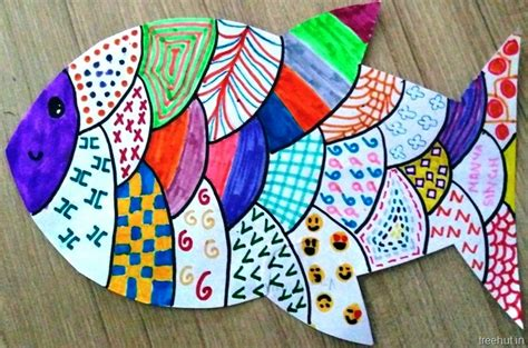 colourful child art pattern art  students  grade