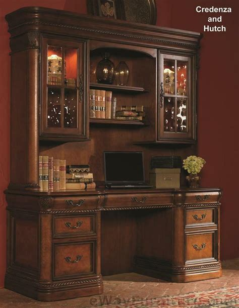 office desk credenza vineyard credenza desk with hutch office computer wood