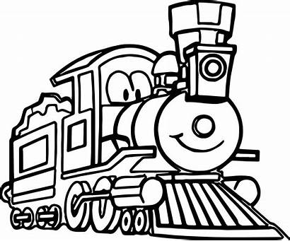 Train Coloring Pages Cartoon Engine Drawing Thomas