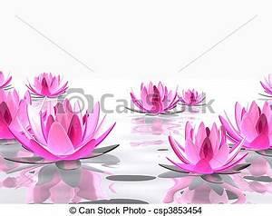 Dessin Fleurs De Lotus : lotus fleur rendu lotus illustration eau l gant fleurs 3d ~ Dode.kayakingforconservation.com Idées de Décoration